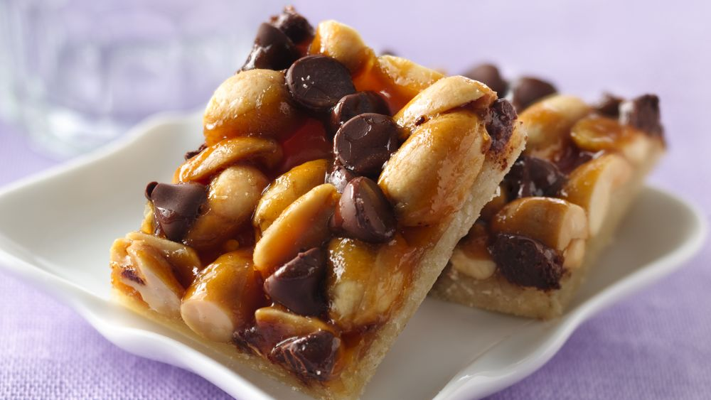 Oh-So-Easy Chocolate-Peanut-Caramel Bars Recipe ...