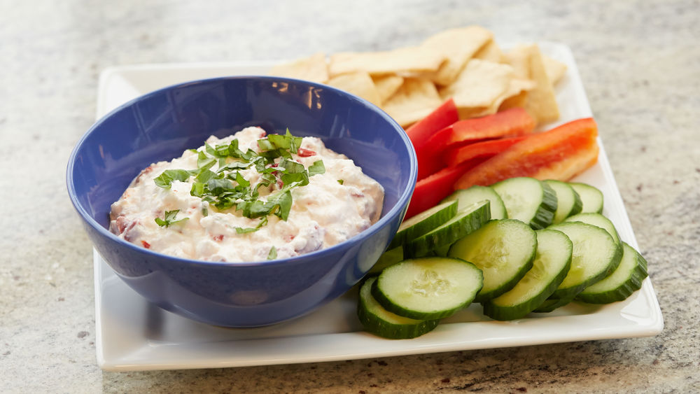 Roasted Red Pepper Feta Dip
