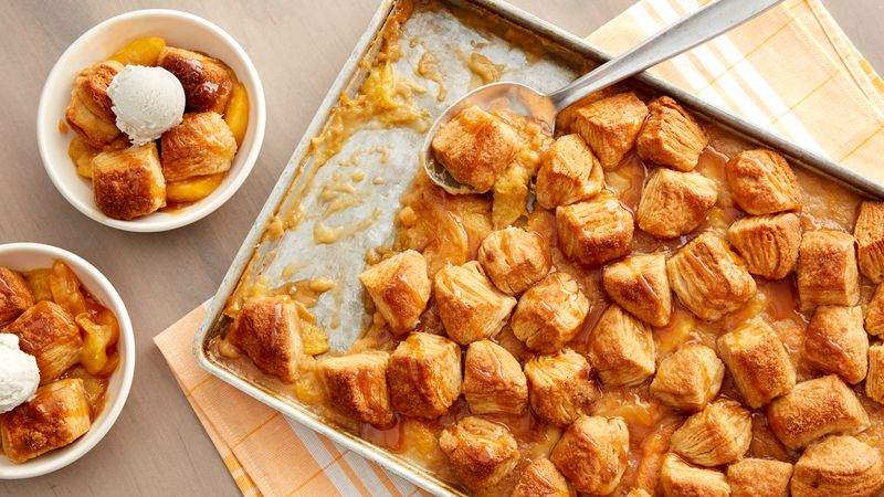 Peach-Salted Caramel Sheet-Pan Dessert