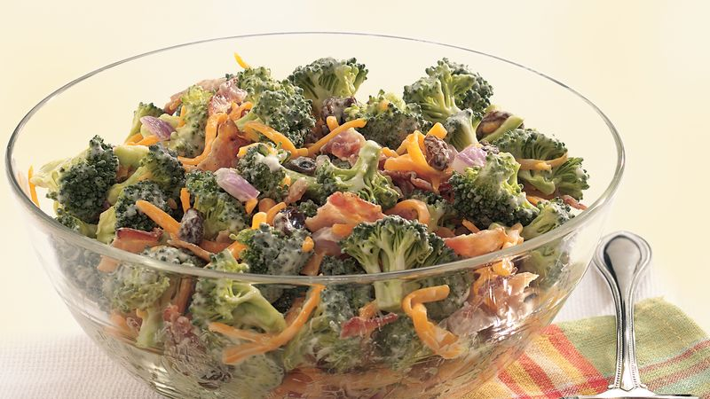 Broccoli Bacon And Cheddar Toss Recipe Bettycrocker Com