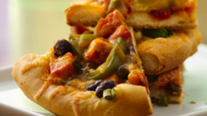 Chicken and Black Bean Tostizzas
