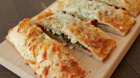 Spinach and Feta-Stuffed Pizza Bread