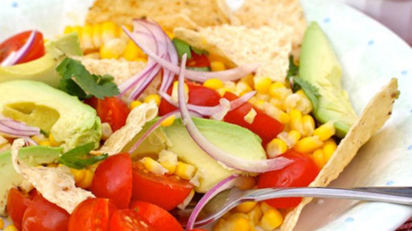 Ensalada de Maiz, Tomate y Tortilla