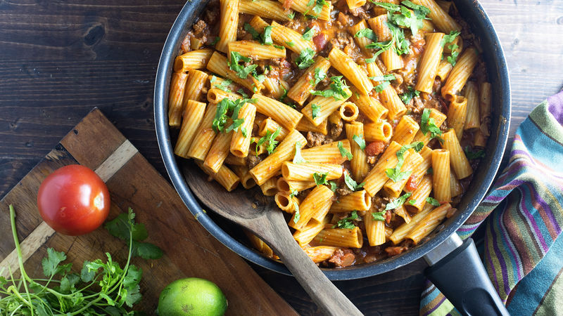 One-Pot Taco Rigatoni