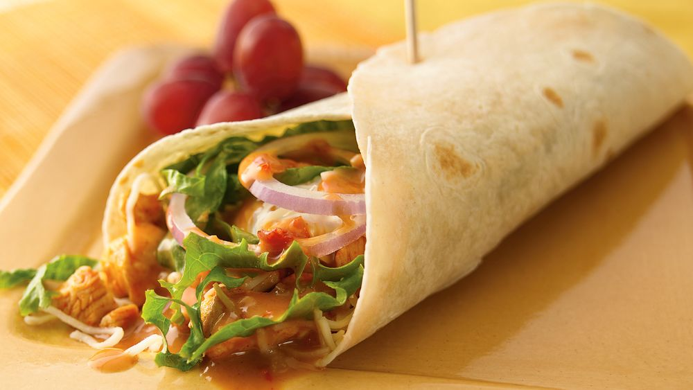 Thai-Style Mexican Chicken Wraps recipe from Pillsbury.com