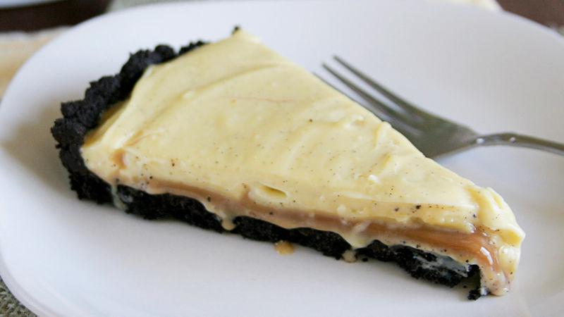 Salted Caramel-Vanilla Bean Custard Tart