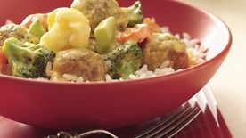 Creamy  Meatballs and Vegetables