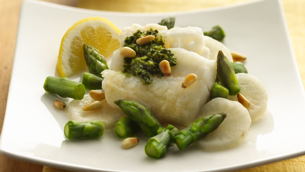 Baked Fish Packets with Chinese Parsley Paste