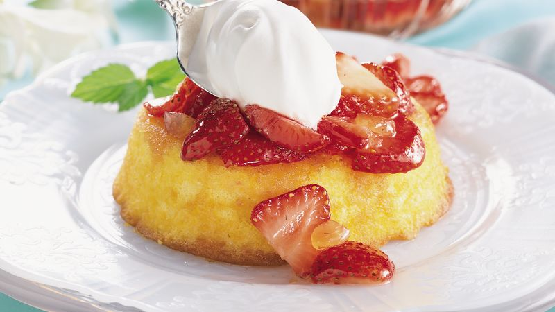 Gingered Strawberry Shortcakes