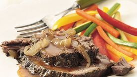 Slow-Cooker Rosemary-Garlic Beef Roast