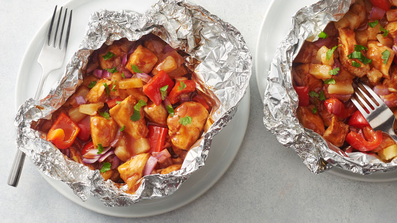 BBQ Chicken Foil Packs