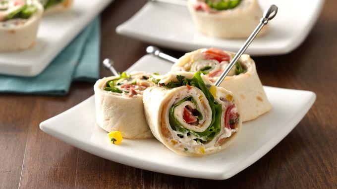 Turkey Club Tortilla Roll-Ups