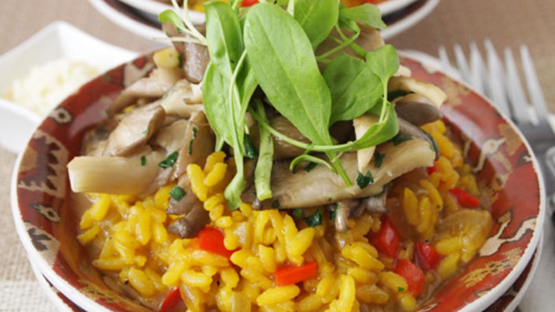 Mushroom and Pepper Risotto