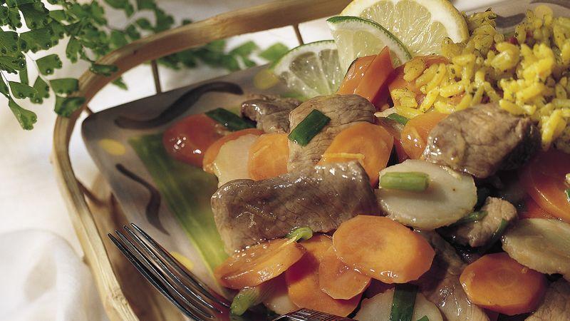 Thai Beef Stir-Fry (lighter recipe)