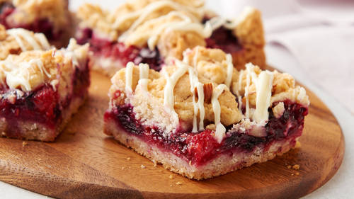 Mixed Berry Crumble Cookie Bars