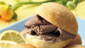 London Broil Beef Brisket with Lemon Mayonnaise