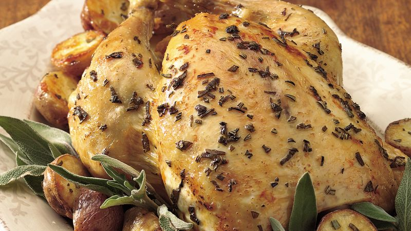 Oven Roasted Chicken With New Potatoes Recipe Bettycrocker Com