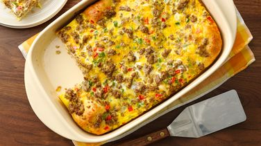 Cheesy Sausage Breakfast Bubble-Up Bake