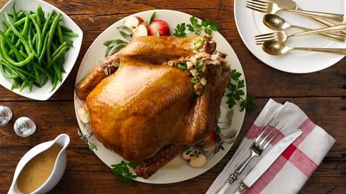 brined whole turkey recipe bettycrocker com brined whole turkey