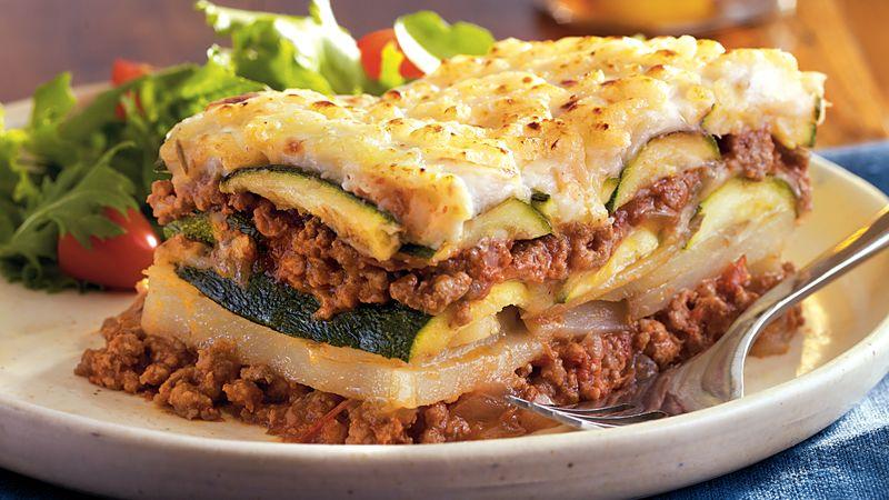 Layered Zucchini Ragu Bake