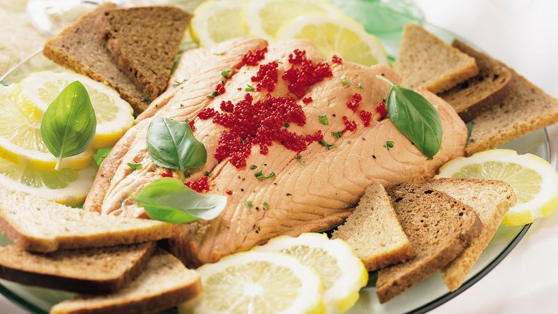 Salmon Fillet with Caviar