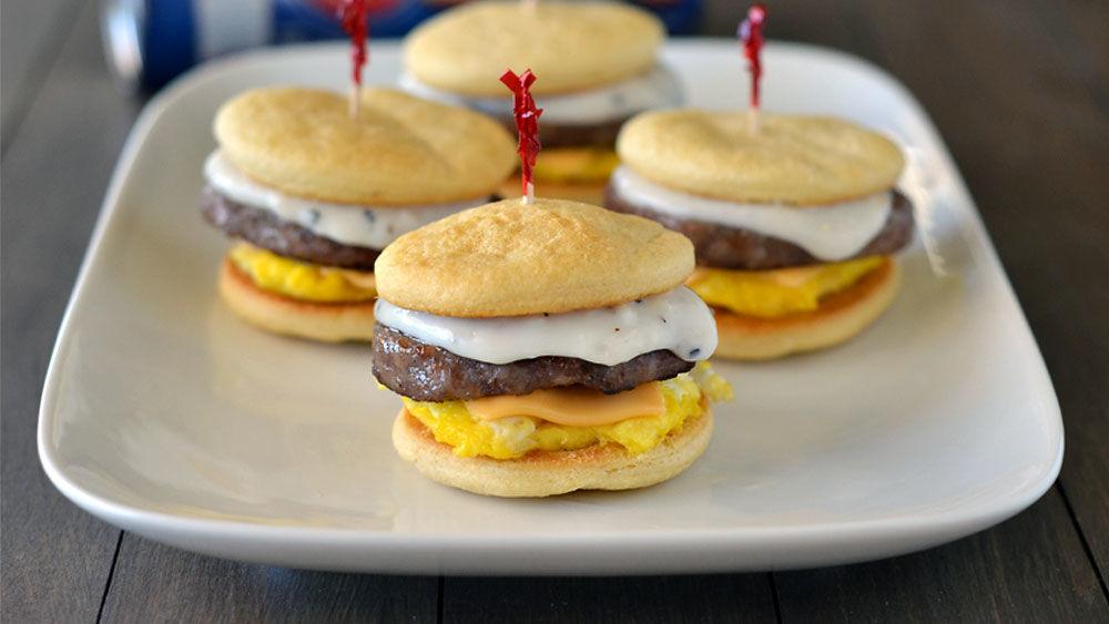 Crescent Bun Breakfast Sliders