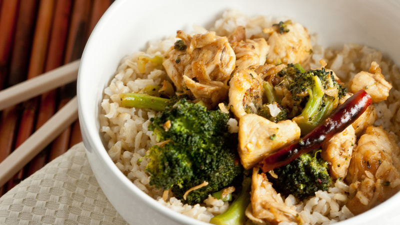 Spicy Chinese Chicken and Broccoli