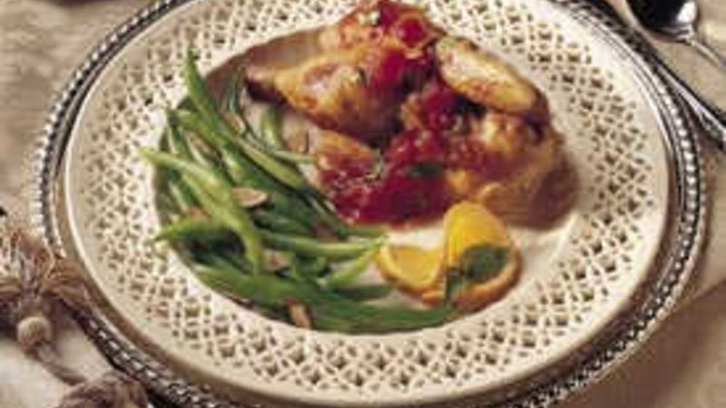 Grilled Cornish Hens with Tomato-Orange Sauce
