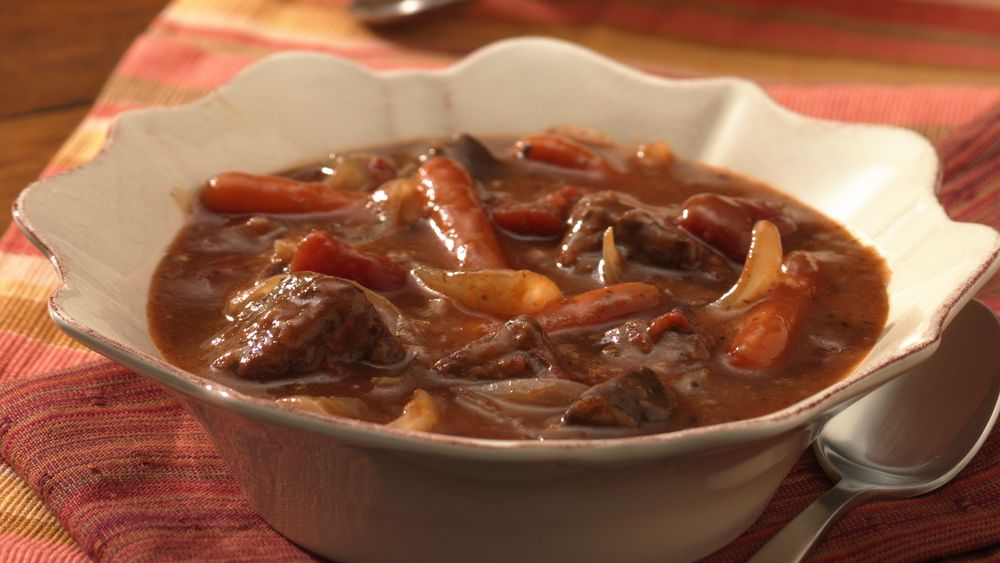 Portobello and Beef Burgundy Stew