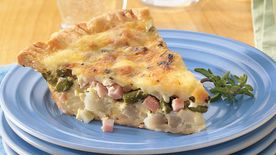 Canadian Bacon and Potato Quiche