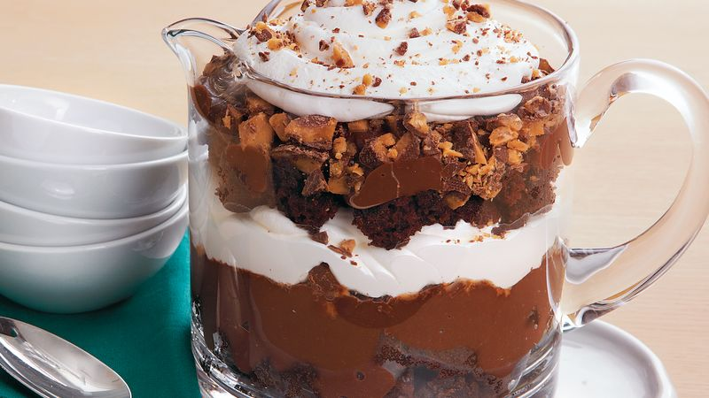 Spiked Brownie Trifle