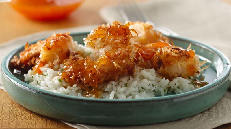 Skillet Coconut Shrimp with Apricot Sauce