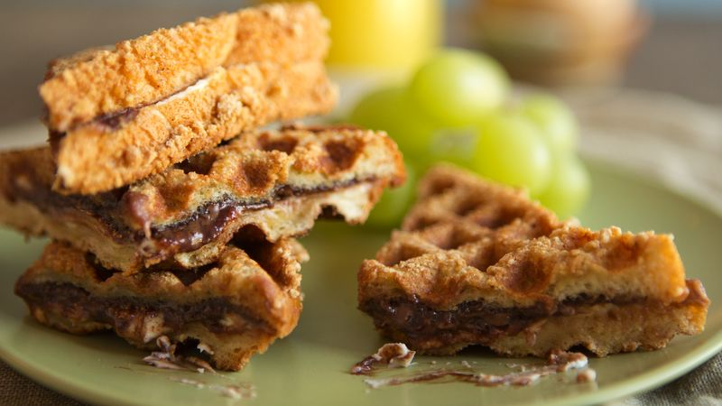 Stuffed Cinnamon French Toast Waffle Sandwiches