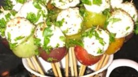 Heirloom Cherry Tomatoes - Bocconcini Lollipops