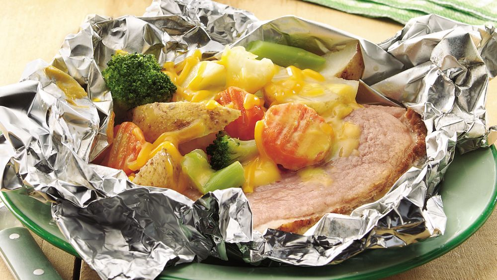 Grilled Cheesy Ham Supper Packets