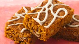 Glazed Spiced Pumpkin Bars