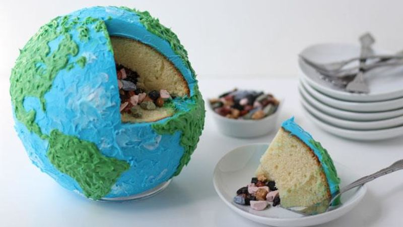 Earth Cake With Rock Candy Core Recipe Tablespoon Com
