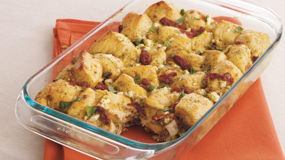 Pesto-Feta Biscuit Bake
