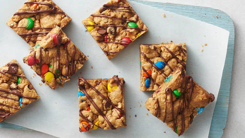 5-Ingredient Monster Cookie Bars