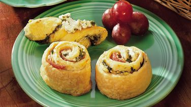 Pesto Crescent Twists with Feta Spread