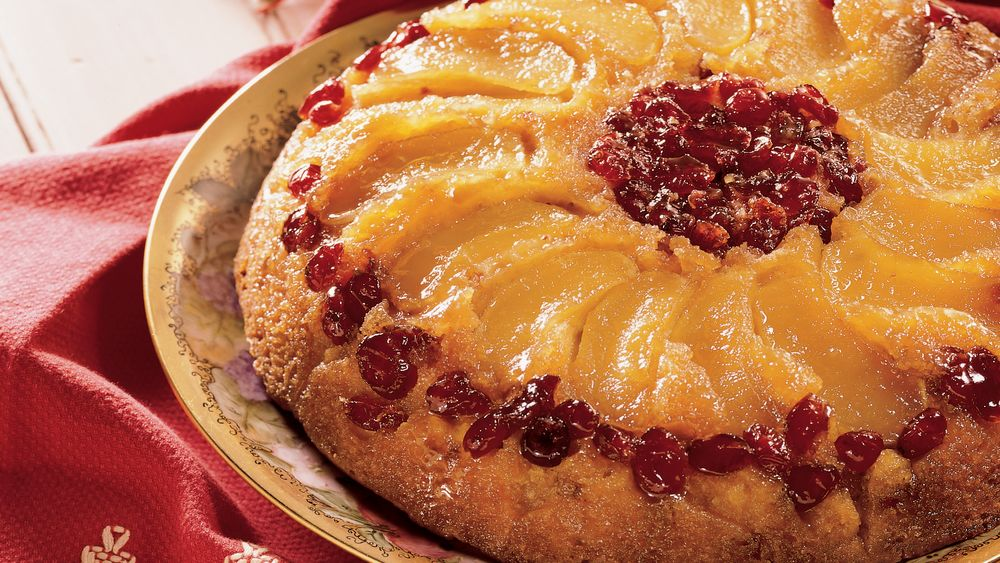 Apple Cranberry Upside-down Cake