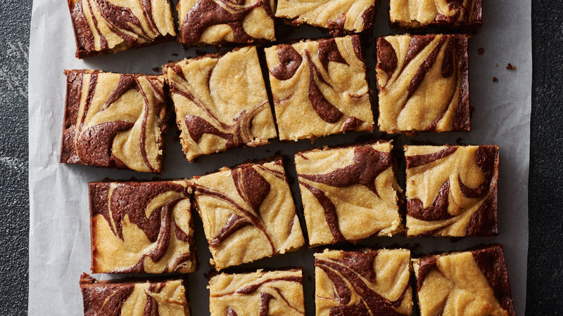 Tahini-Swirled Brownies