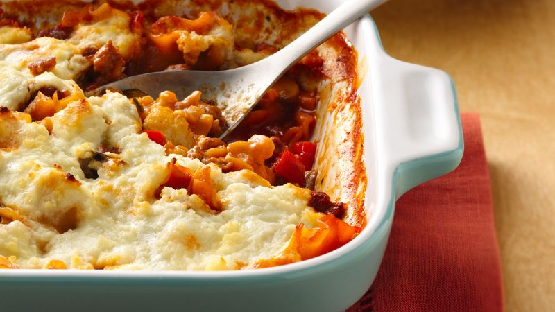 Three Cheese-Sausage Lasagna