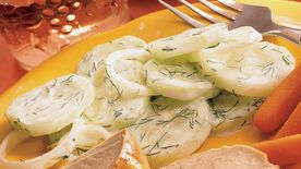 Marinated Cucumbers in Sour Cream