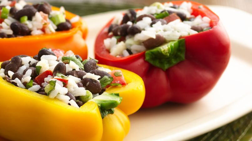 Black Bean and Rice Stuffed Peppers