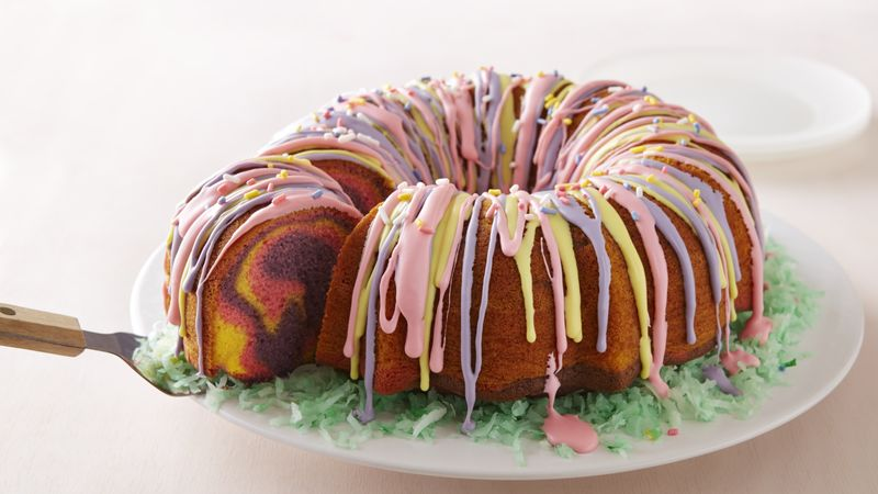 Rainbow ring easter basket cake recipe bettycrocker rainbow ring easter basket cake negle Gallery