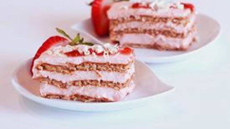 Strawberry Ice Box Cake