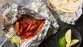 Grilled Chicken Fajita Foil Packs