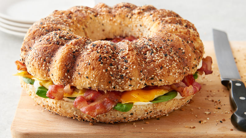 Everything Bagel Breakfast Bundtwich