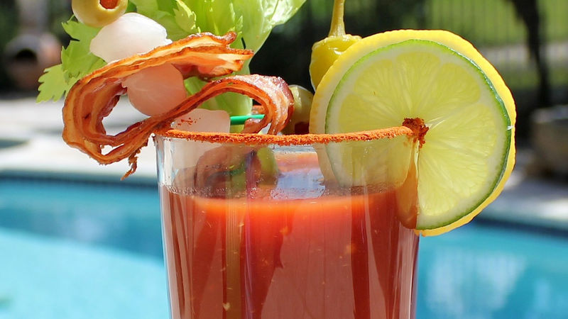 Smoky Bacon Bloody Mary Recipe Bettycrocker Com